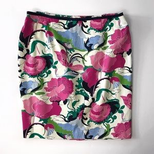 Talbots floral skirt pencil straight size 16WP